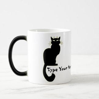 Katzen-Tassen-Kaffeetasse-personalisierte Verwandlungstasse