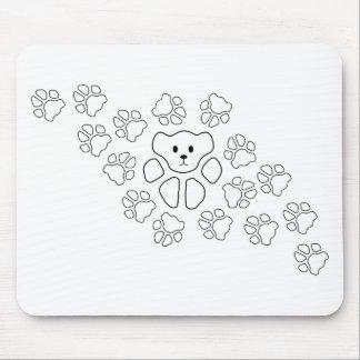 Katzen-Tatze, Teddybär Mousepad