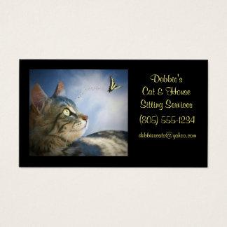 Katzen-u. Haus-sitzende Visitenkarten