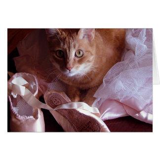 Katzen-und Ballett-Pantoffel Karte