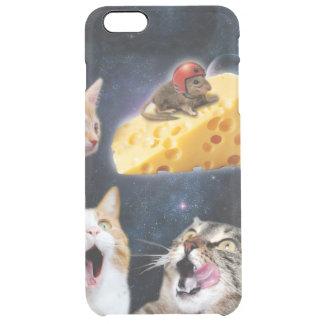Katzen und die Maus auf dem Käse Durchsichtige iPhone 6 Plus Hülle
