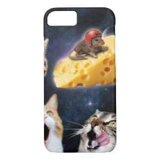 Katzen und die Maus auf dem Käse iPhone 8/7 Hülle