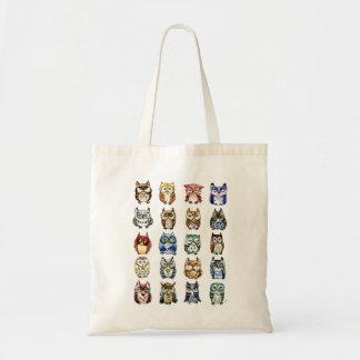 Katzen-und Eulen-Tasche Tragetasche