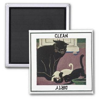 Katzen-und Kätzchen-Spülmaschinen-Magnet Quadratischer Magnet