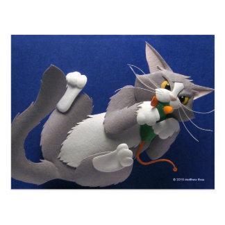 Katzen-und Mäusepostkarte Postkarte