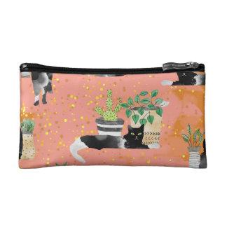 Katzen und Pflanzen Kosmetiktasche
