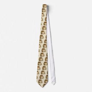 Katzen-und Teacup-Vintages viktorianisches Bedruckte Krawatten
