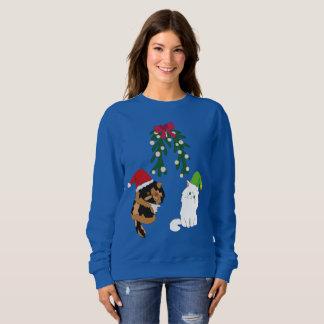 Katzen unter dem Mistelzweig Sweatshirt