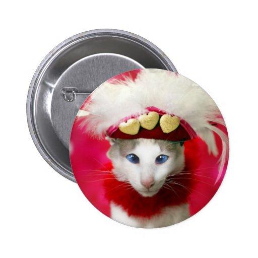 Katzen-Valentinsgruß-Knopf Buttons