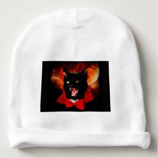 Katzen-Vampir - schwarze Katze - lustige Katzen Babymütze