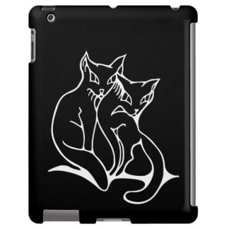 Katzen verbinden beim Liebevorlagenzeichnen