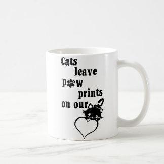 Katzen verlassen pawprints auf unserer Herzen Kaffeetasse