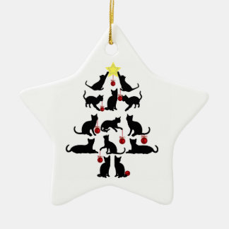 Katzen-Verzierung Keramik Ornament