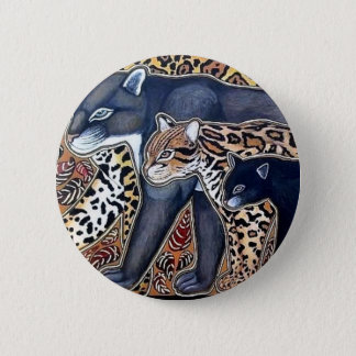 Katzen von Costa Rica - Big cats Runder Button 5,1 Cm