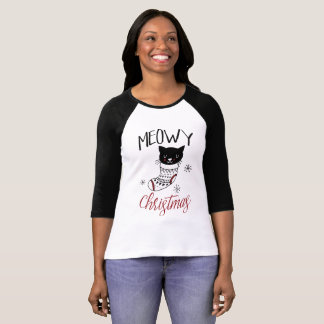 Katzen-WeihnachtsShirt Meowy T-Shirt