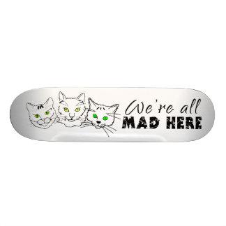 Katzen - wir sind alle hier wütend personalisierte skateboarddecks