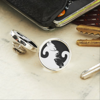 Katzen yin Yang Anstecknadel