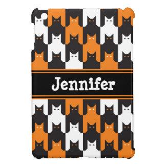 Katzen-Zahn-Halloween-Muster iPad Mini Hülle
