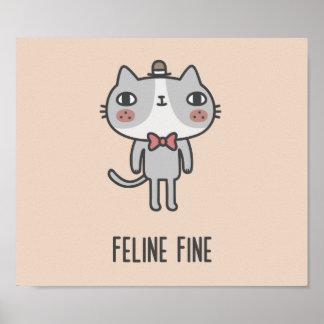 Katzenartige Geldstrafe Poster