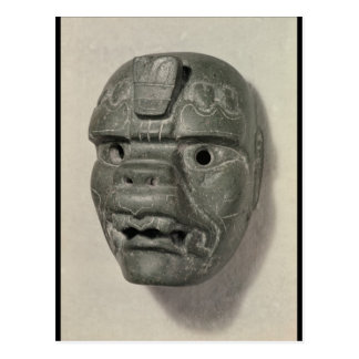 Katzenartige Maske eines Mannes, von Oaxaca, Postkarte