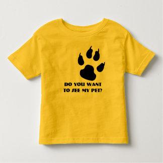 Katzenartiger Abdruck Kleinkind T-shirt