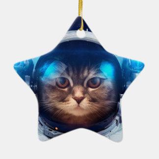 Katzenastronaut - Katzen im Raum - Katzenraum Keramik Ornament