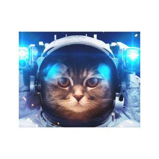 Katzenastronaut - Katzen im Raum - Katzenraum Leinwanddruck