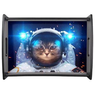 Katzenastronaut - Katzen im Raum - Katzenraum Serviertablett