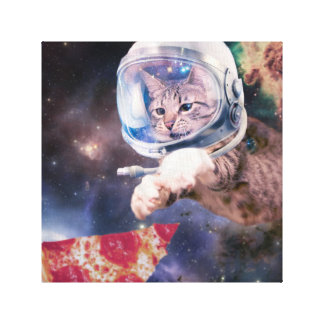 Katzenastronaut - lustige Katzen - Katzen im Raum Leinwanddruck