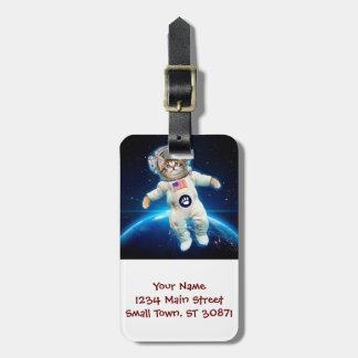 Katzenastronaut - Raumkatze - Katzenliebhaber Gepäckanhänger