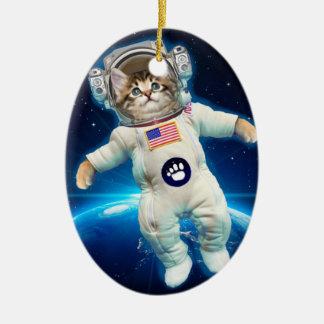 Katzenastronaut - Raumkatze - Katzenliebhaber Keramik Ornament