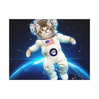 Katzenastronaut - Raumkatze - Katzenliebhaber Leinwanddruck
