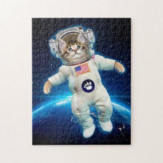 Katzenastronaut - Raumkatze - Katzenliebhaber Puzzle