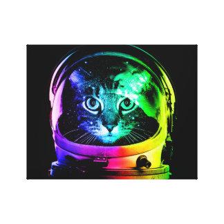 Katzenastronaut - Raumkatze - lustige Katzen Leinwanddruck
