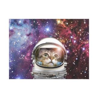 Katzenastronaut - verrückte Katze - Katze Leinwanddruck