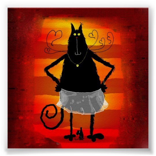 Katzenballerina Poster