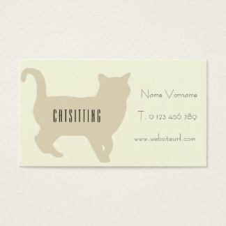 katzenbetreuung visitenkarte
