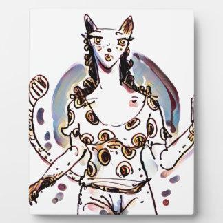 Katzendame Fotoplatte