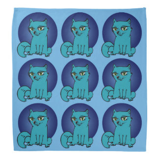 Katzendame sitzender Cartoon süßen Kitty Kopftuch