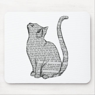 Katzenlesebuchaufkleber Mauspad