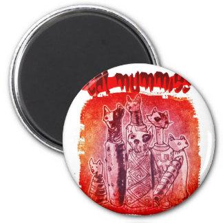 Katzenmamas Runder Magnet 5,7 Cm