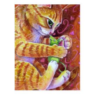 Katzenminzen-Maus Postkarte