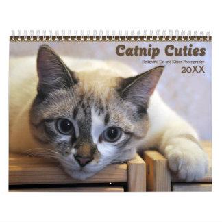 Katzenminzen-Süsse-Katzen 2018 und Kätzchen Wandkalender