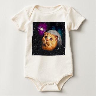 Katzenmond, Katze und Mond, catmoon, Mondkatze Baby Strampler