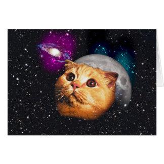 Katzenmond, Katze und Mond, catmoon, Mondkatze Karte