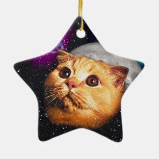 Katzenmond, Katze und Mond, catmoon, Mondkatze Keramik Ornament