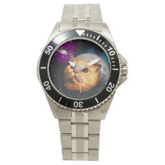 Katzenmond, Katze und Mond, catmoon, Mondkatze Uhr