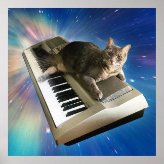 Katzentastatur Poster