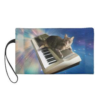 Katzentastatur Wristlet Handtasche