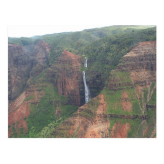 Kauai-Gebirgswasserfall-Postkarte Postkarte
